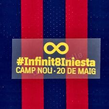 Fc Barcelona 2018-19 Infinit Iniesta player Issue match details patch Messi