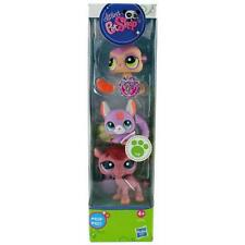 Littlest Pet Shop Tube MEERCAT CHINCHILLA CAMEL lot #2115 2116 2117 Retired NIB!