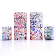 Floral Gold Foil Washi Tape Set 18 Rolls Decorative Tape Pastel Kids Tape 8/15mm