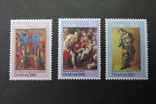 1980 Christmas Set of 3  SG 758-760  ASC  781-783 MUH