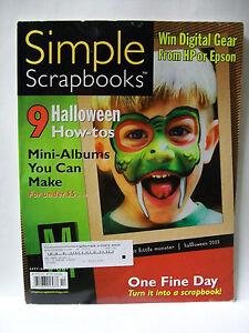 SIMPLE SCRAPBOOKS SEPTEMBER OCTOBER 2004 MAGAZINE SCRAPBOOKING IDEAS HALLOWEEN