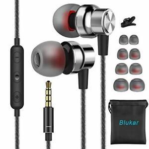 Écouteurs Intra-Auriculaires Filaire Microphone Contrôle Volume Bass Anti-Bruit