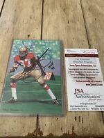 Jimmy Johnson Autographed/Signed Goal Line Art Photo JSA COA San Francisco 49ers