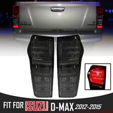 1 PAIR LED TAIL LIGHT LAMP REAR BLACK SMOKE DARK ISUZU DMAX D-MAX RODEO 2012-14