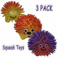 Amazing Pet 3 Pack of Assorted Latex Hedgehog Squeak Toys by for Dogs and...