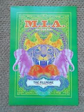 M.I.A. The Cool Kids F905 FILLMORE POSTER Bill Graham Presents Matt Leunig 2007