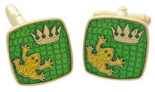 FROG  CUFFLINKS ENAMEL GOLD ON SILVER 925 FROM ARI D NORMAN FATHER'S DAY