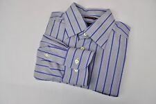 "ETON Wrinklefree Cotton Formal Men's Shirt 16"" Size 41 Blue Pinstriped Casual"