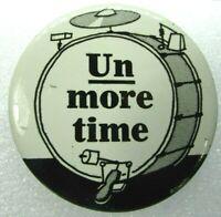 1960s VTG Pinback Button Advertising Un More Time 7 Seven Up 7Up Uncola Drum Set