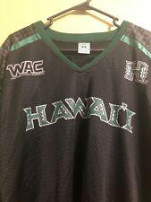 HAWAII RAINBOW WARRIORS GREEN/BLACK WAC CONFERENCE NCAA FOOTBALL JERSEY XL