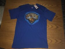 NEW YORK KNICKS NBA MENS MAJESTIC TRIPLE PEAK SHORT SLEEVE SHIRT LARGE