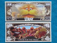 4 Bills: The LORAX Dr. Seuss Animated sBook ~ USA $1,000,000 One Million Dollars