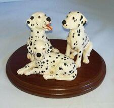 More details for border fine arts, dalmatians, 3 puppies, code bo107, 1995, mint. very rare.