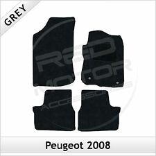 PEUGEOT 2008 2013 onwards Tailored Fitted Carpet Car Floor Mats GREY