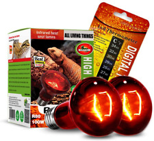 New listing Mclanzoo 2 Pack 100W Reptile Heat Lamp Bulb Infrared Basking Spot Heat Lamp for