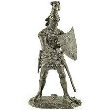 England. Knight 14Cen Tin toy soldiers. 54mm miniature figurine. metal sculpture