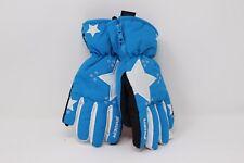 Zanier Ehrwald.zx Junior Blue White Star Winter Gloves Medium/5  Age 10-11
