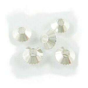Wholesale Silver Brass Beads Plain Bicone 4mm 20 Packs Of 100+