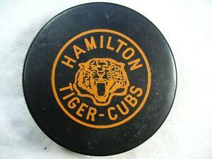 OHA Hamilton Tiger - Cubs Vintage CCM 50's Rare Game Hockey Puck Collect Pucks