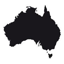 Australia forma Auto Finestrino Paraurti muro frigo In Vinile Decalcomania Adesivo souvenir NERO