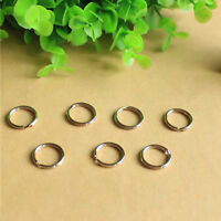 10PCS Stainless Steel Aircraft Cable Wire Key Chain Ring Twist Screw LockingYE