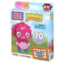 Mega Bloks Moshi Monsters Build a Monster Set #80652 Poppet 70 pieces + stickers