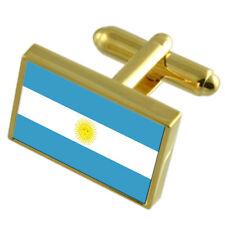 Argentina País Bandera Gemelos Dorado Bolsa De Regalo seleccione