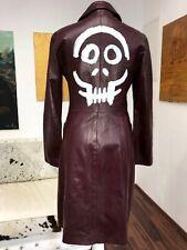 MANTEL Jacke 36 S COAT LEDER UNIKAT designer Totenkopf skull hexe magic esoterik