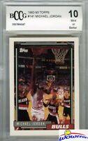 1992 Topps #141 Michael Jordan Topps Rookie Card Beckett 10 MINT! 1st Topps Card