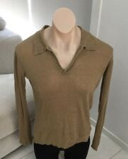 Super Comfy Mens Armani Exchange Long Sleeve Brown Knitted Top Jumper Small