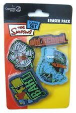 The Simpsons school set 4 erasers pack