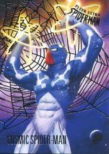 Spiderman Fleer Ultra 2017 Silver Parallel Base Card #22 Cosmic Spider-Man