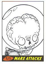 Mars Attacks Heritage Sketch Card: Michael Banks