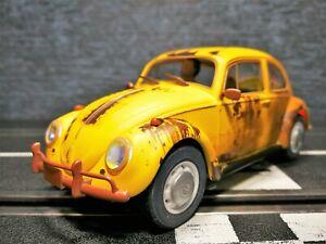 1/32 Slotcar Scalextric Volkswagen VW Käfer Beetle Rost Version Gelb C4045