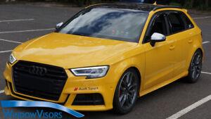 Window Visors WeatherShields weather shields Audi A3 RS3 Sportback hatch 2013-20