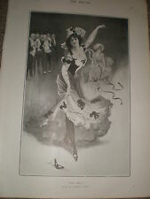 Pas Seul by Leonard Linsdell 1903 old print ref Z