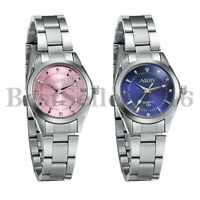Womens Girls Dress Waterproof Analog Quartz Watch Stainless Steel Wrist Bracelet