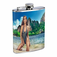 Irish Pin Up Girls D10 Flask 8oz Stainless Steel Hip Drinking Whiskey