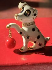 KJL Kenneth Jay Lane Dalmation Dog Pin /Brooch