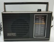 RARE SONY TFM-7100 W FM AM TRANSISTOR RADIO SOLID STATE - Tested and works!