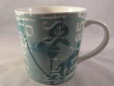 Starbucks 2006 Guatemala Coffee Mug Green Floral  Script 16 oz pre owned