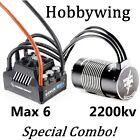 HOBBYWING EZRUN MAX 6 ESC & 2200kv MOTOR UNIQUE COMBO