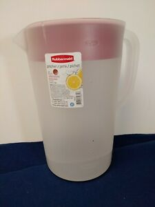Rubbermaid 1 Gallon Plastic Pitcher Clear With Red Lid