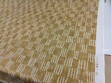 George Spencer Matchsticks Ochre Curtain Craft Fabric 1.2 Metre Linen Blend
