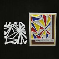 Stanzschablone Dreieck Weihnachten Hochzeit Oster Geburstag Karte Album Deko DIY