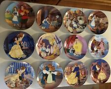 Walt Disney's Beauty & the Beast Knowles Collector Plates Set of 12 with Certifi