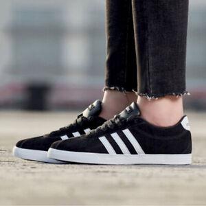 Adidas Courtset Women's Athletic Running Workout Sneaker Black Shoe Trainer