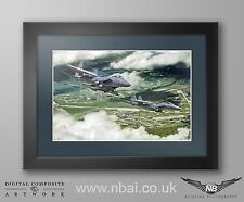 Framed 492nd Fighter Squadron, 48th FW, F-15E, RAF Lakenheath Digital Artwork