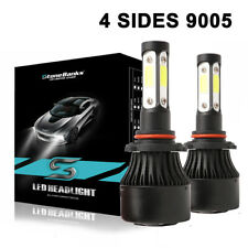 2X 4 Sides 9005 Hb3 Led Headlight High Beam Cree Bulbs White Kit Power 60W 6000K