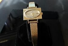 Rare VINTAGE SANDOZ Women Watch SAPHIRE 18K YELLOW GOLD 12-hour Dial, Mechanical